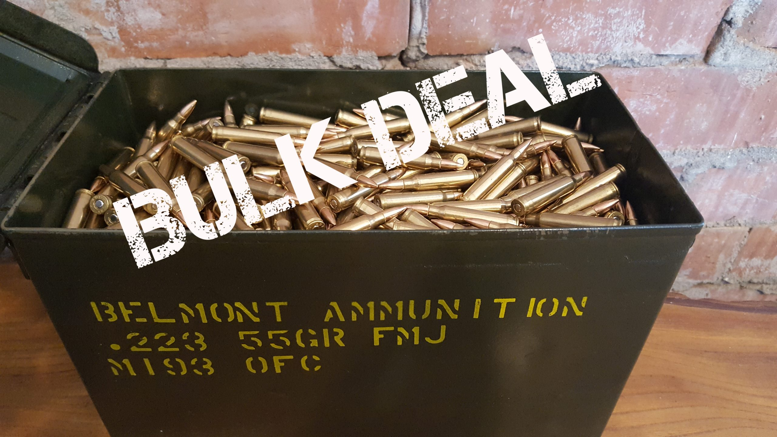 Bulk deal! 1000 rounds .223 FMJ just $449.00 delivered