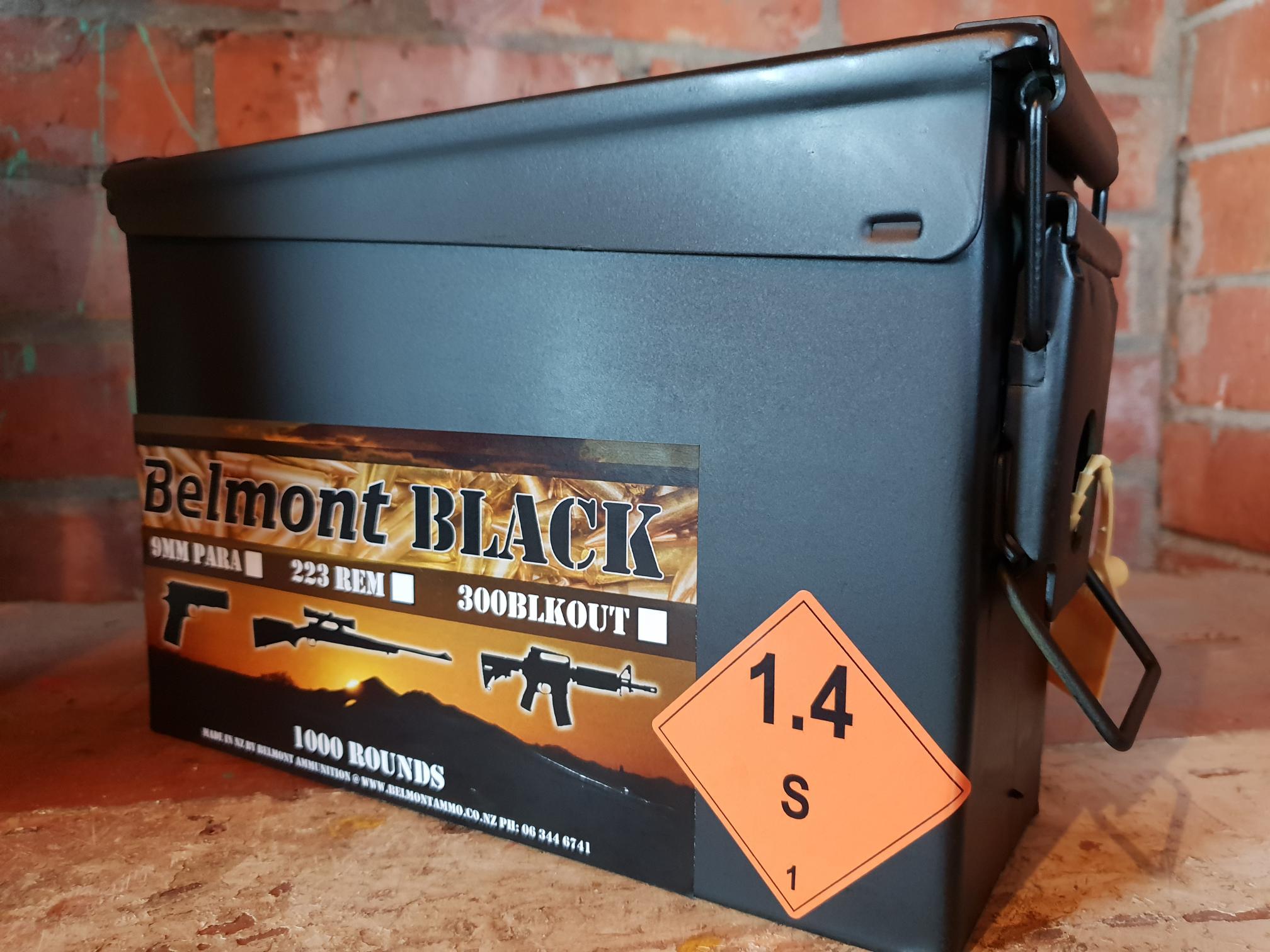 Belmont Black 9mm 147gr CMJ-FP OFC (1000 rounds)